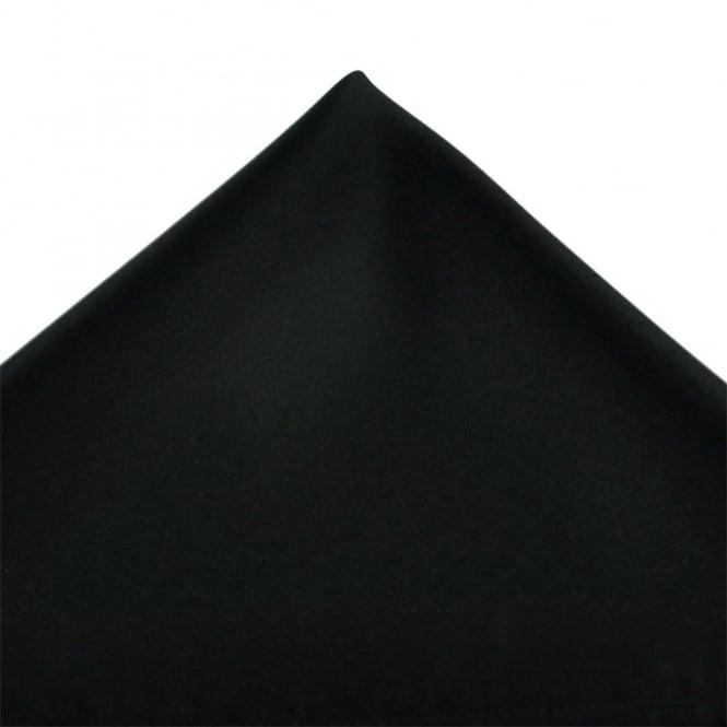Plain Black Pocket Square Handkerchief