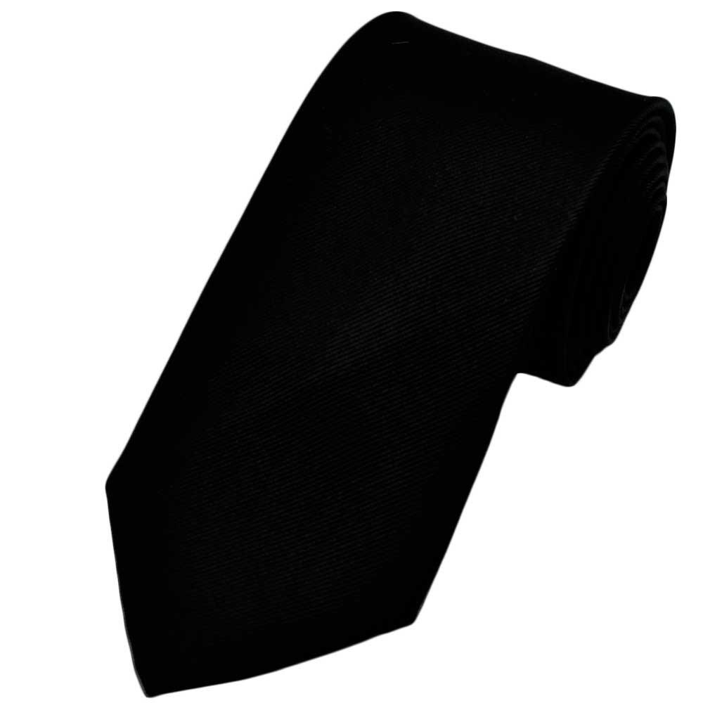 plain black ribbed silk tie from ties planet uk