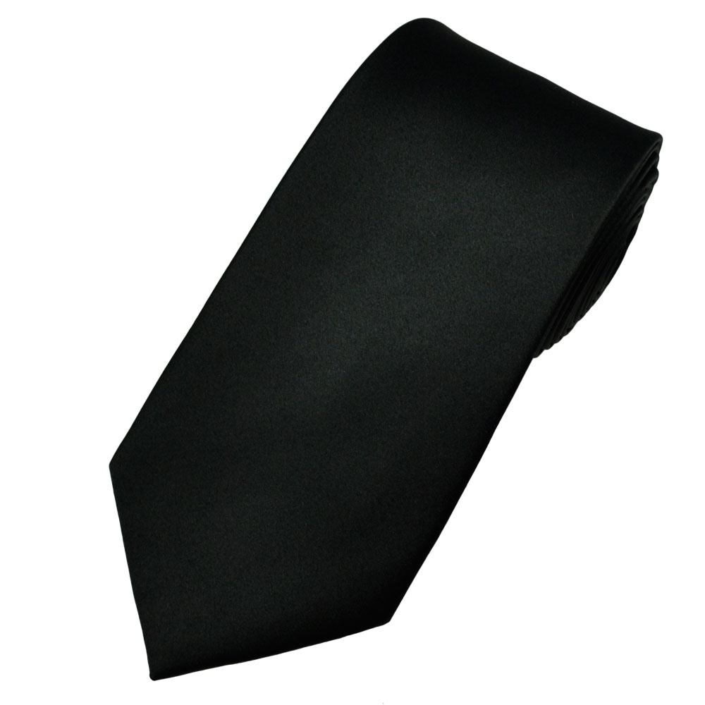 plain black satin tie from ties planet uk