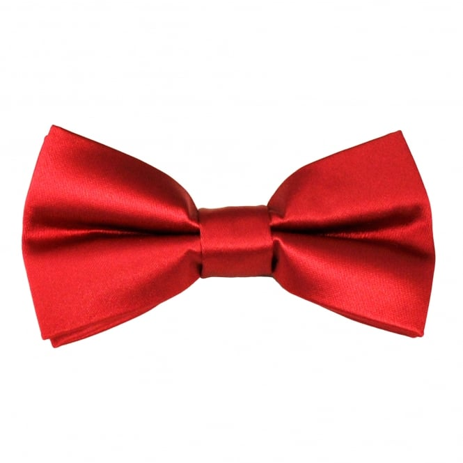 Plain Blood Red Bow Tie