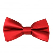 Plain Blood Red Boys Bow Tie