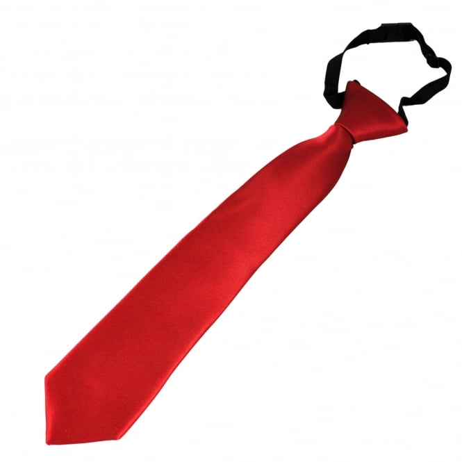 Plain Blood Red Boys Skinny Tie - 6 Months to 4 Years