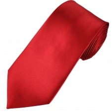 Plain Blood Red Extra Long Tie