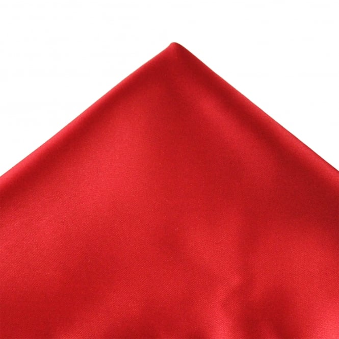 Plain Blood Red Pocket Square Handkerchief