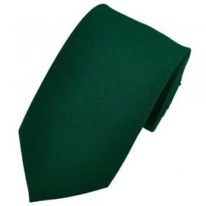 Plain Bottle Green Tie