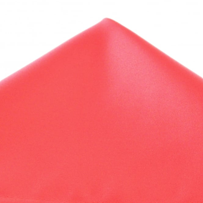 Plain Bright Coral Pink Pocket Square Handkerchief