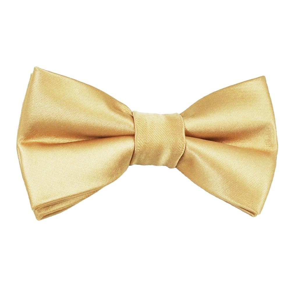 Romano - Boys Gold Satin Bow Tie | Childrensalon  |Bow Ties For Boys