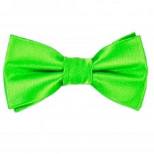 Plain Bright Green Boys Bow Tie