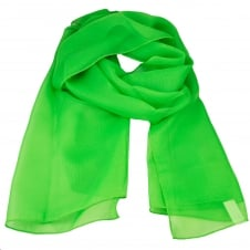 Plain Bright Green Chiffon Scarf