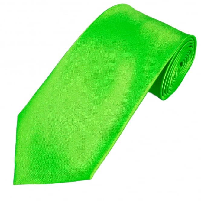 Plain Bright Green Extra Long Tie