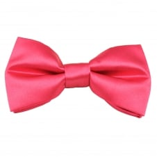 Plain Bright Pink Men's Bow Tie