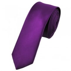 Plain Bright Purple Skinny Tie