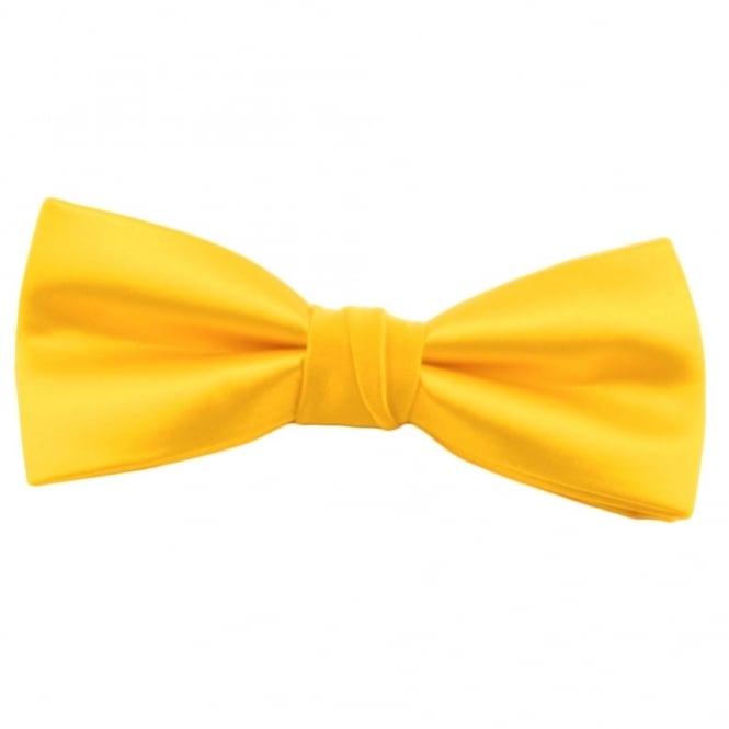 Plain Bright Yellow Bow Tie