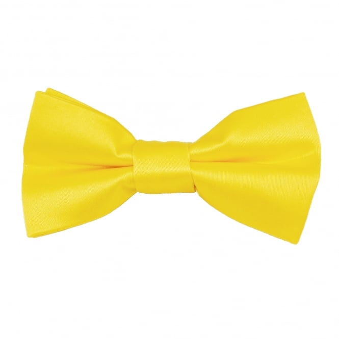Plain Bright Yellow Boys Bow Tie