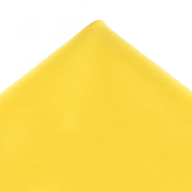 Plain Bright Yellow Pocket Square Handkerchief