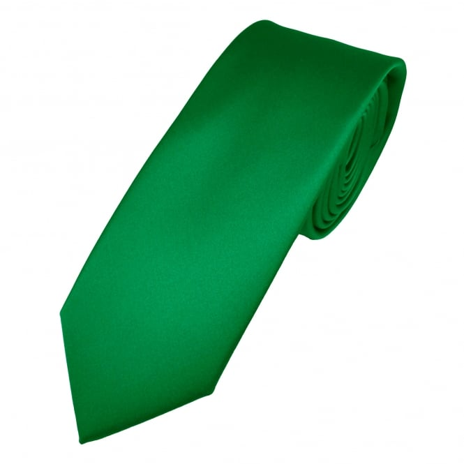 Plain British Racing Green Boys Skinny Tie