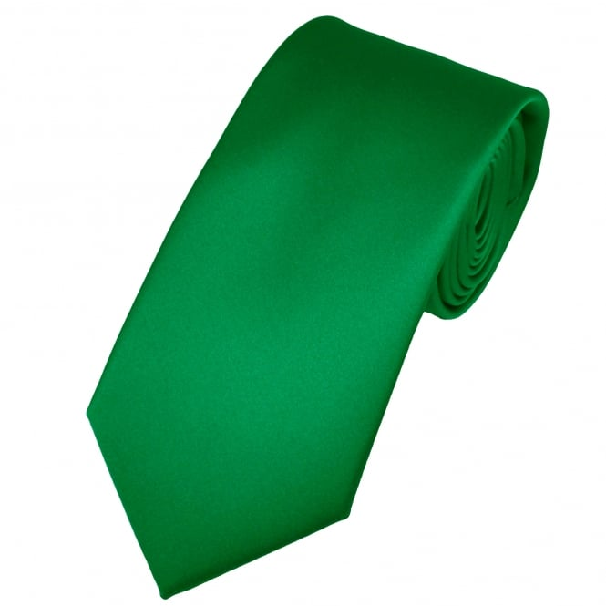 Plain British Racing Green Men's Satin Tie