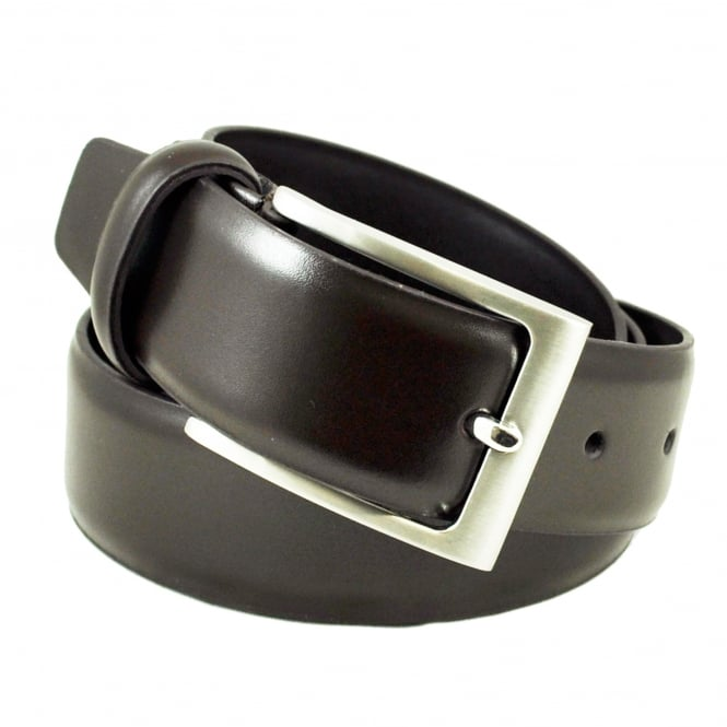 Plain Brown 35mm Men's Leather Belt