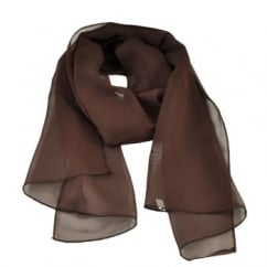 Plain Brown Chiffon Scarf