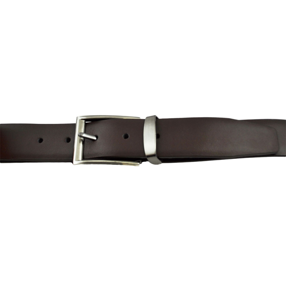 plain brown s leather belt adjustable from ties