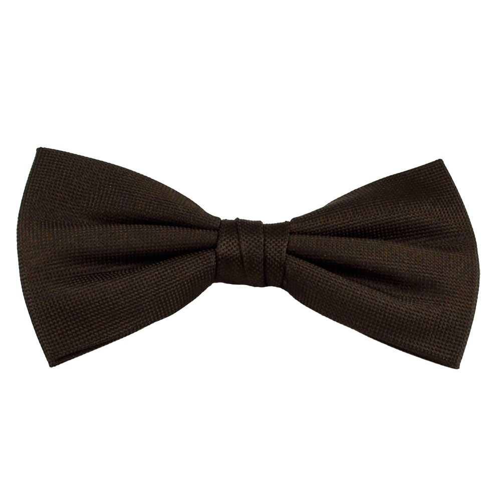 plain brown silk bow tie from ties planet uk