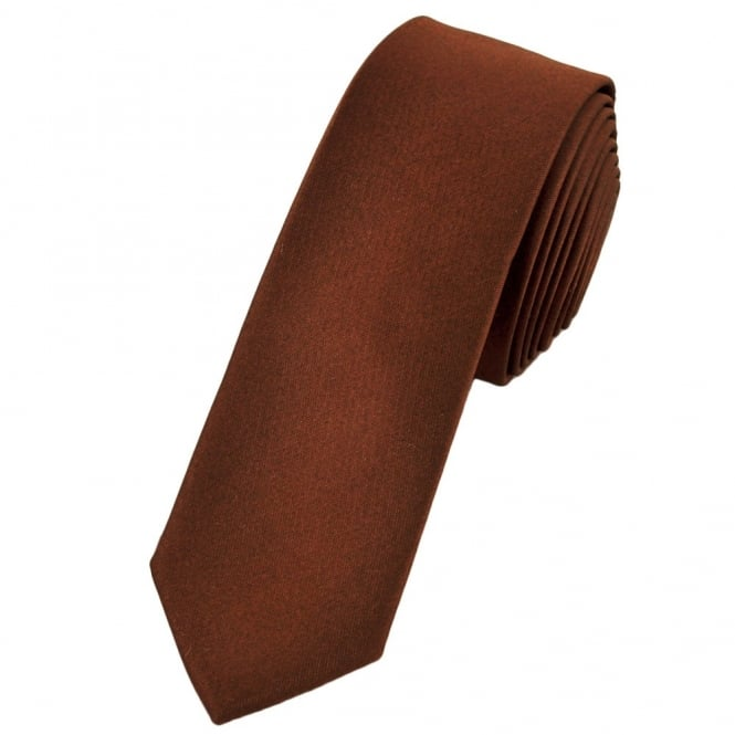 Plain Brown Super Skinny Tie From Ties Planet Uk Whats