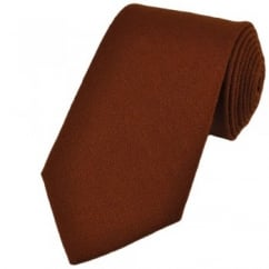 Plain Brown Wool Tie