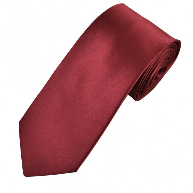 Plain Burgundy 7cm Narrow Tie