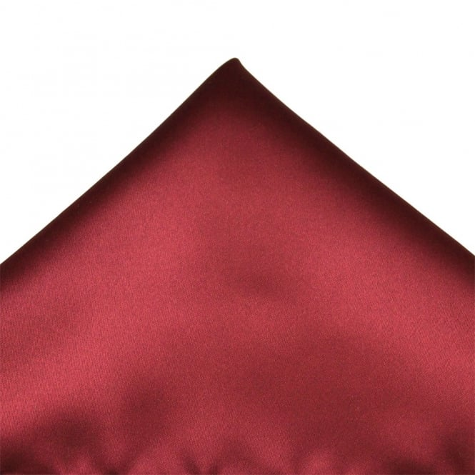 Plain Burgundy Pocket Square Handkerchief