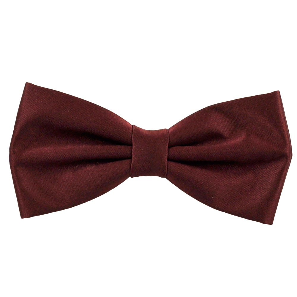 plain burgundy bow tie from ties planet uk