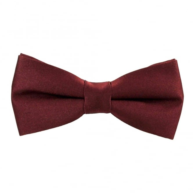 Plain Burgundy Red Boys Bow Tie