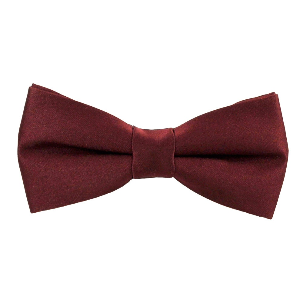 plain burgundy boys bow tie from ties planet uk