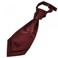 Plain Burgundy Red Boys Scrunchie Wedding Cravat