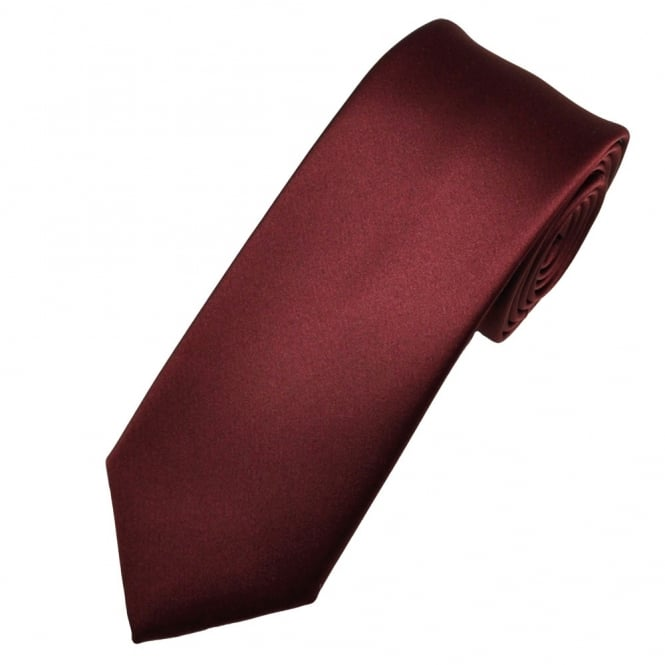 Plain Burgundy Red Boys Tie