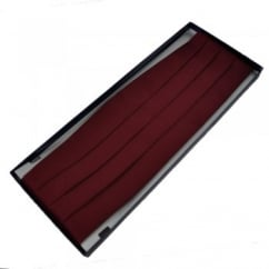 Plain Burgundy Red Cummerbund
