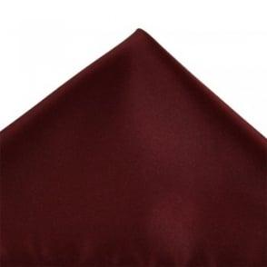Plain Burgundy Red Pocket Square Handkerchief