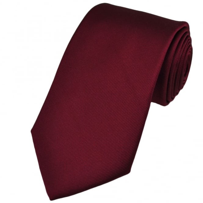 1da556465240 Plain Burgundy Red Silk Tie from Ties Planet UK