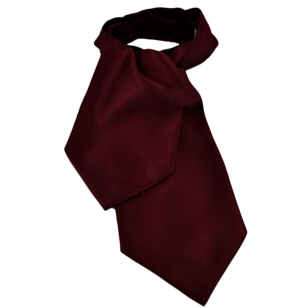 plain burgundy ribbed self tie casual day cravat from ties