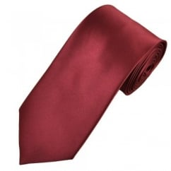 Plain Burgundy Satin Tie