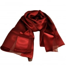 Plain Burgundy Self Stripe Satin Scarf