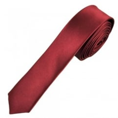 Plain Burgundy Super Skinny Tie