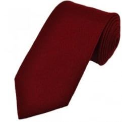 Plain Burgundy Wool Tie