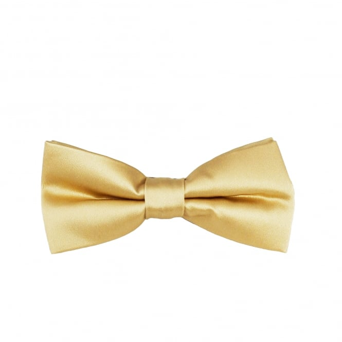 Plain Caramel Gold Boys Bow Tie