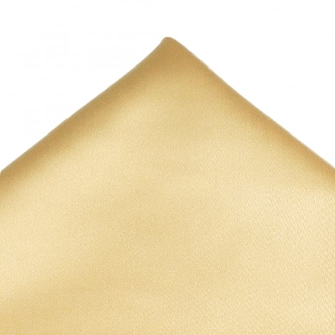 Plain Caramel Gold Pocket Square Handkerchief