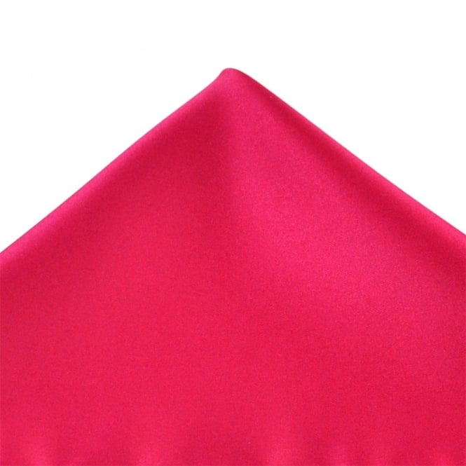 Plain Cerise Pink Pocket Square Handkerchief