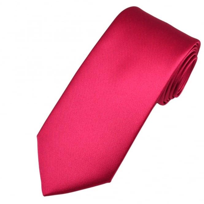 Plain Cerise Pink Satin Tie
