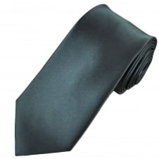 Plain Charcoal Grey Extra Long Tie