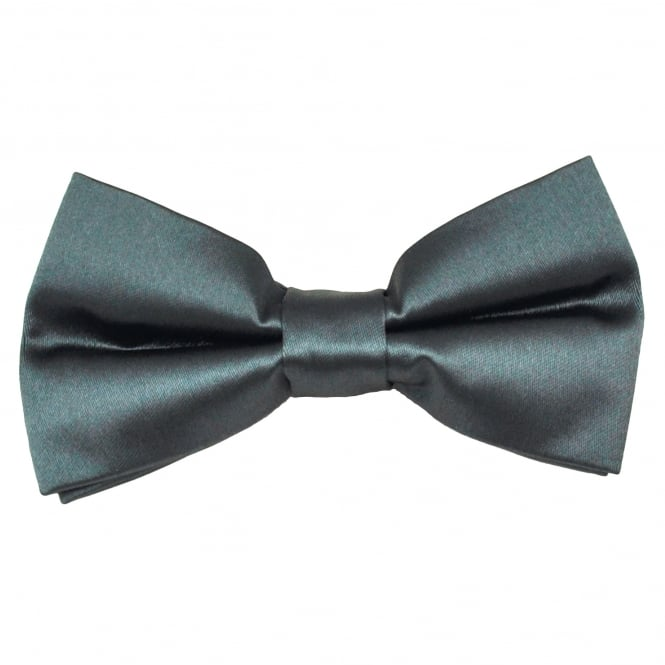Plain Charcoal Grey Men's Bow Tie
