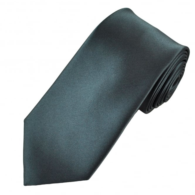 Plain Charcoal Grey Men's Satin Tie