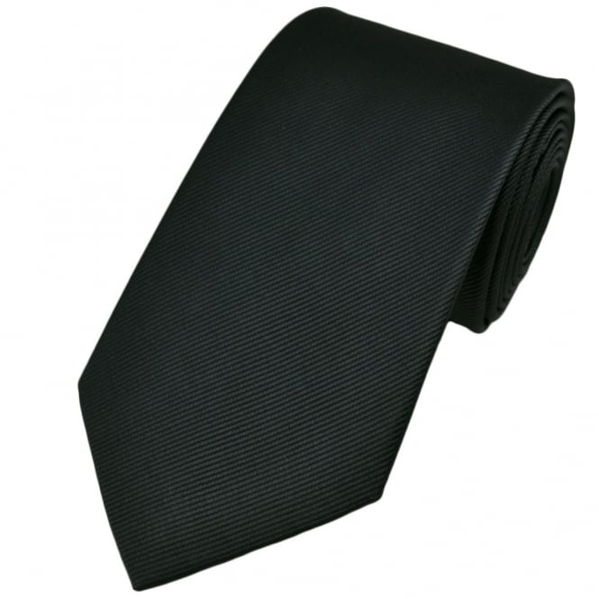 Plain Charcoal Grey Silk Tie